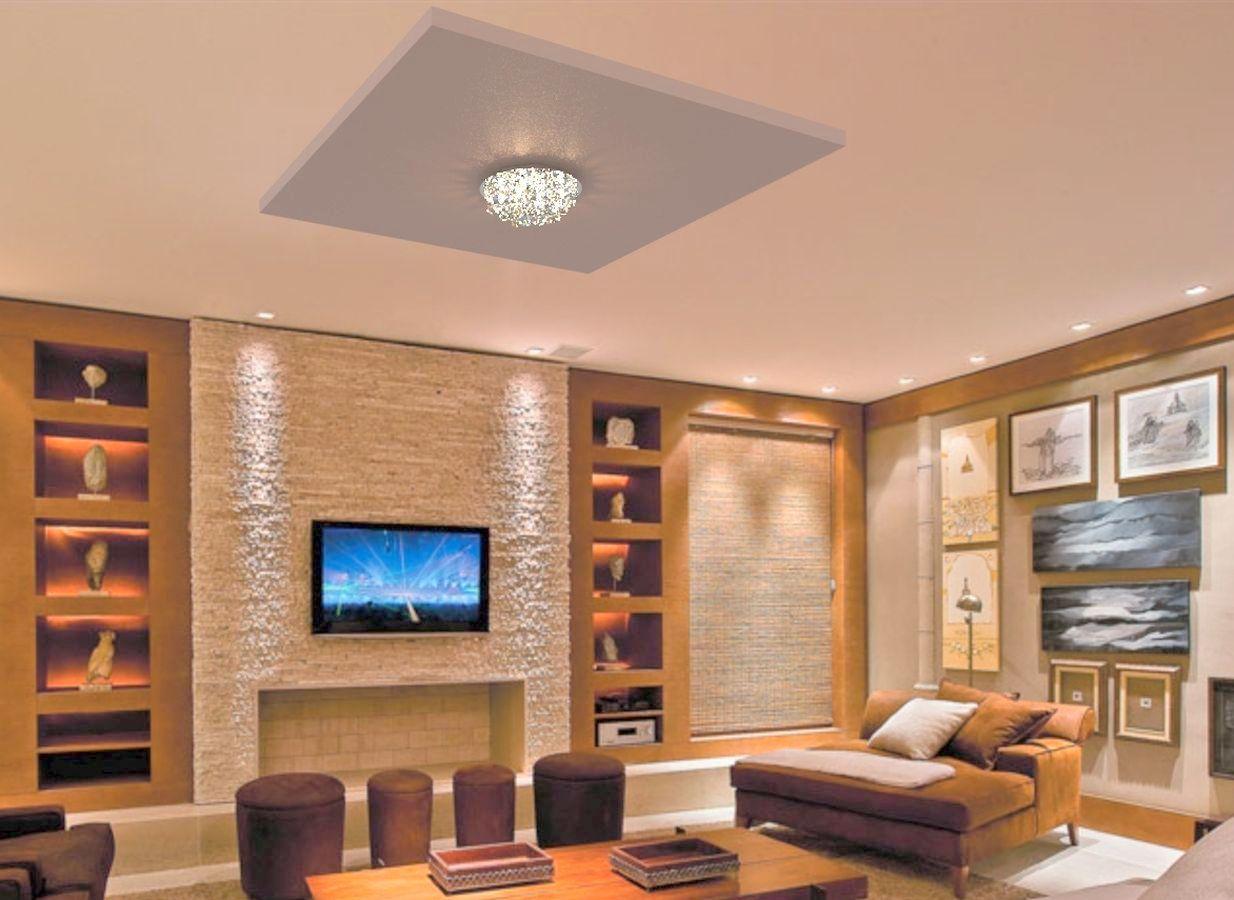 Plafon de Cristal Legitimo Redondo 30cm Sala Quarto Corredor Living Loft