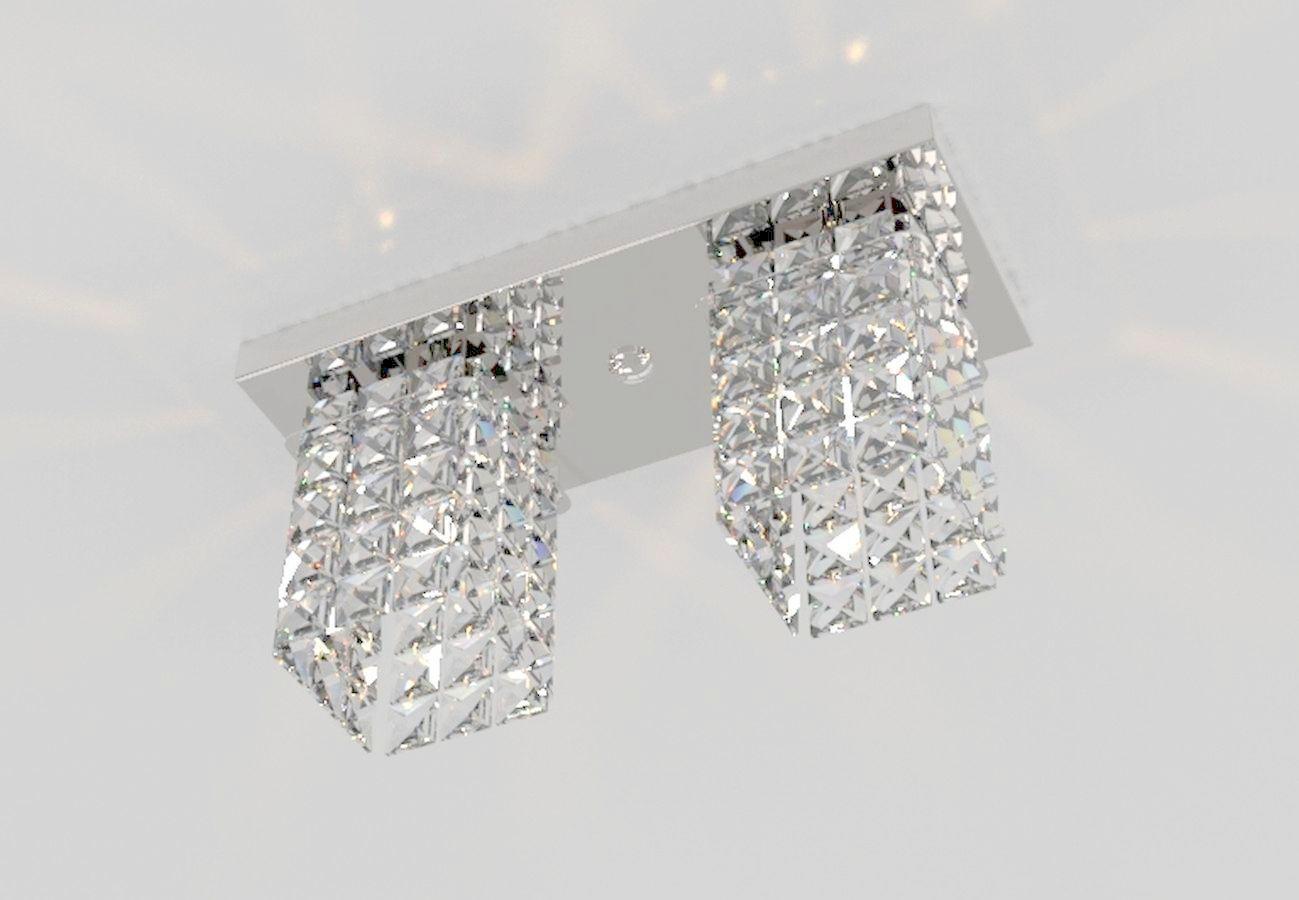 Plafon de Cristal Legitimo Retangular 30cm Mesa Balcão Bancada