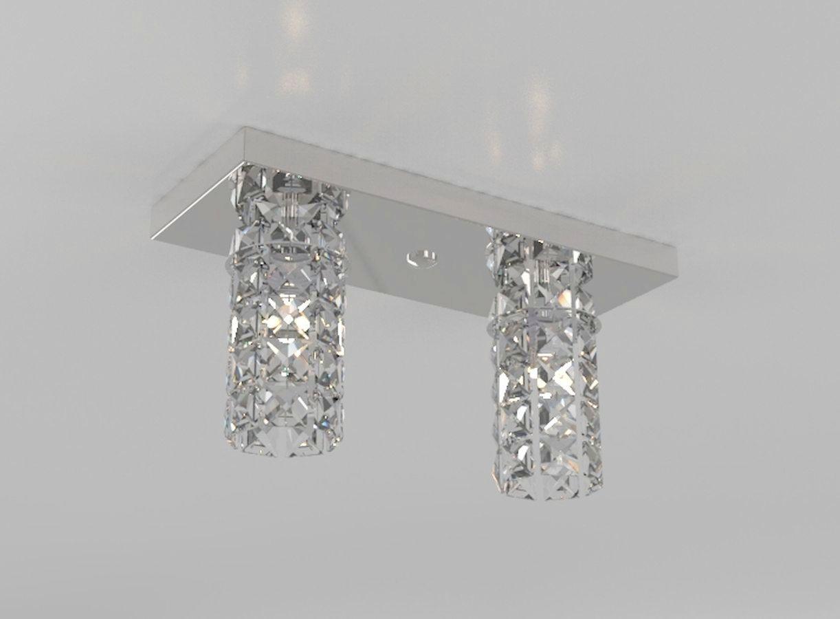 Plafon de Cristal Legitimo Retangular L30X12cm Balcão Bancada Corredor Lavabo