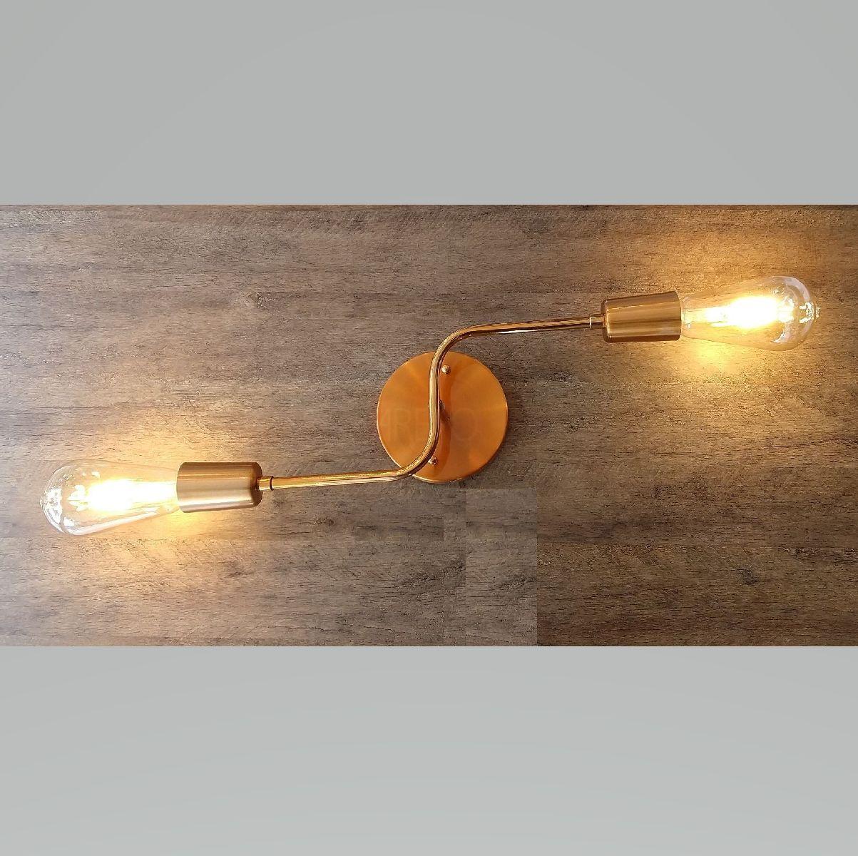 Plafon Industrial Moderno 2 Lâmp Para Cozinha Gourmet Quarto Corredor Caisma
