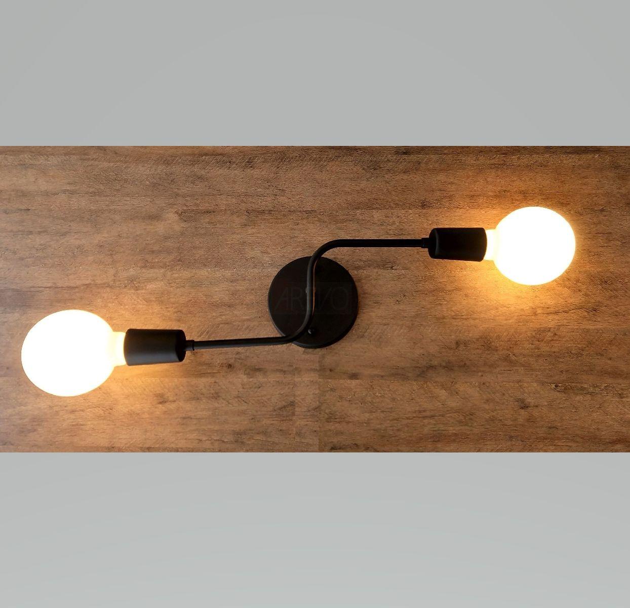 Plafon Industrial Moderno Preto Com Lâmp Led Para Cozinha Gourmet Quarto Corredor