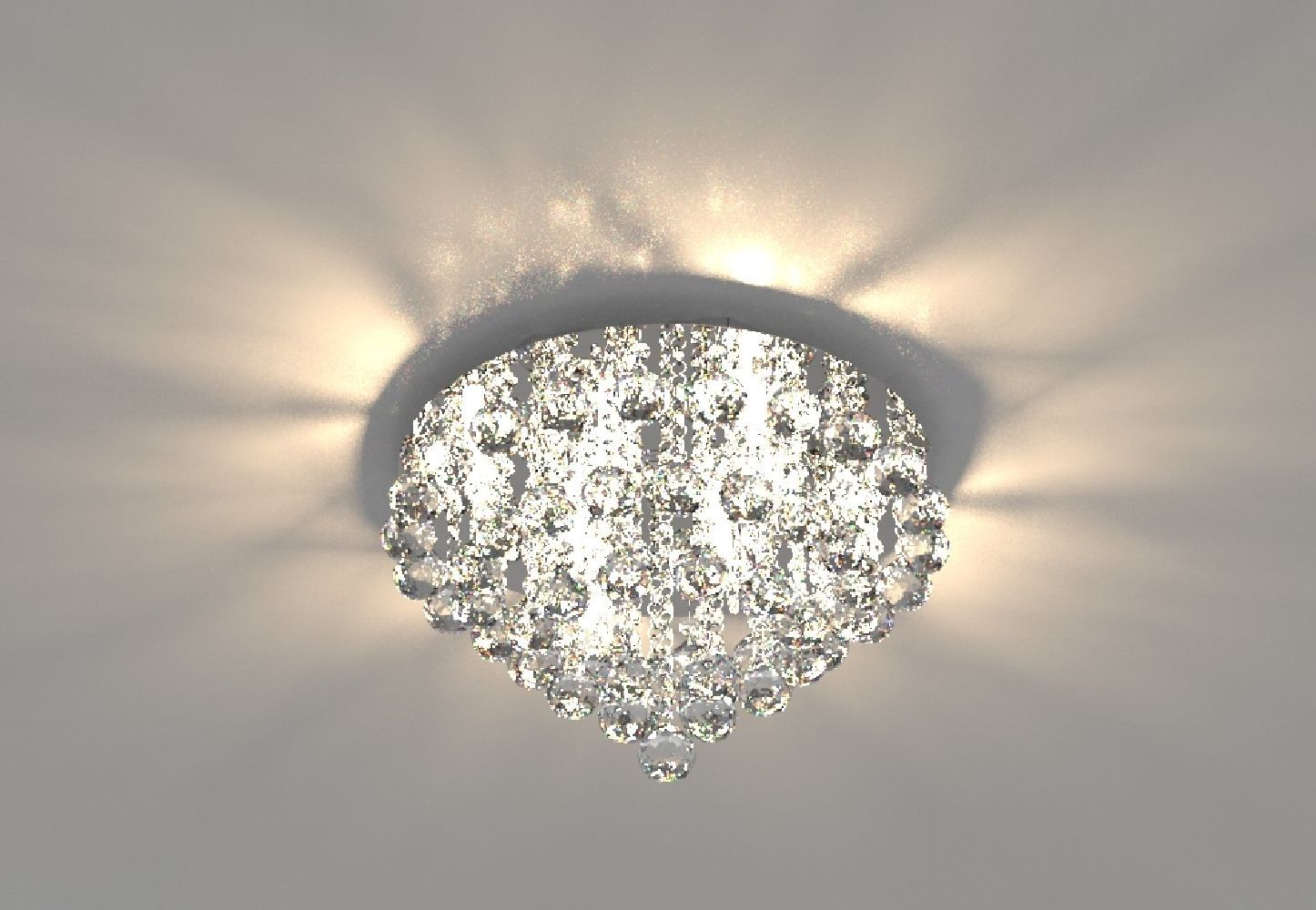 Plafon Lustre de Cristal Legitimo 40cm Sala Estar Jantar Quarto Living C/ Lâmpadas Led