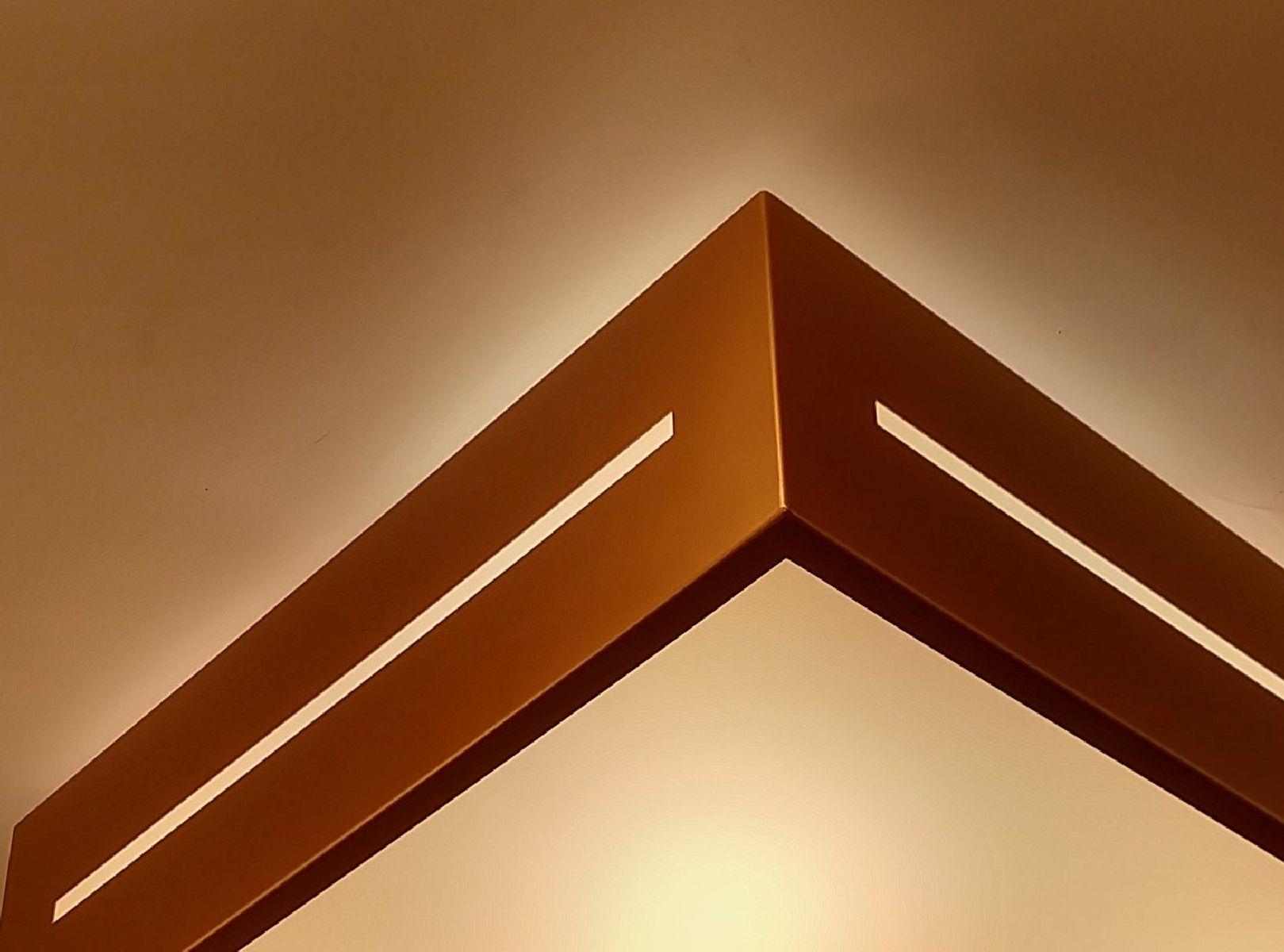 Plafon Moderno Decorativo 50cm Cobre Para Sala Mesa Cozinha Quarto Escritório Hall