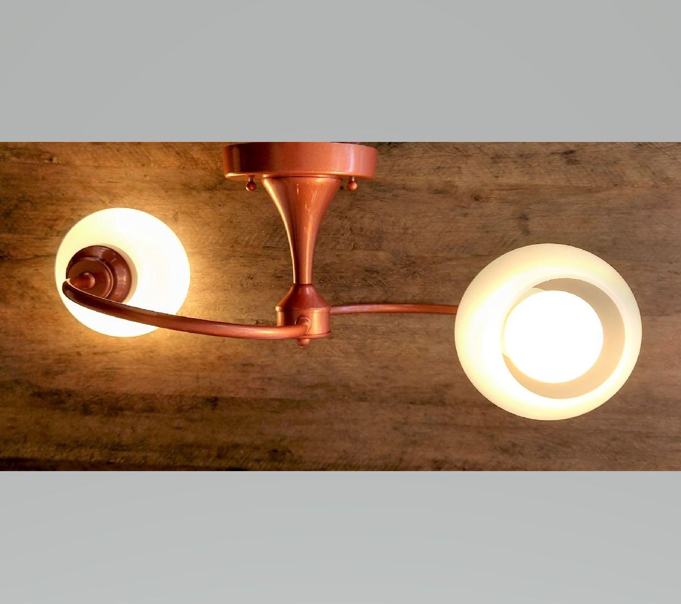 Plafon Moderno Jabuticaba 2 Lâmp Para Cozinha Gourmet Quarto Corredor Caisma