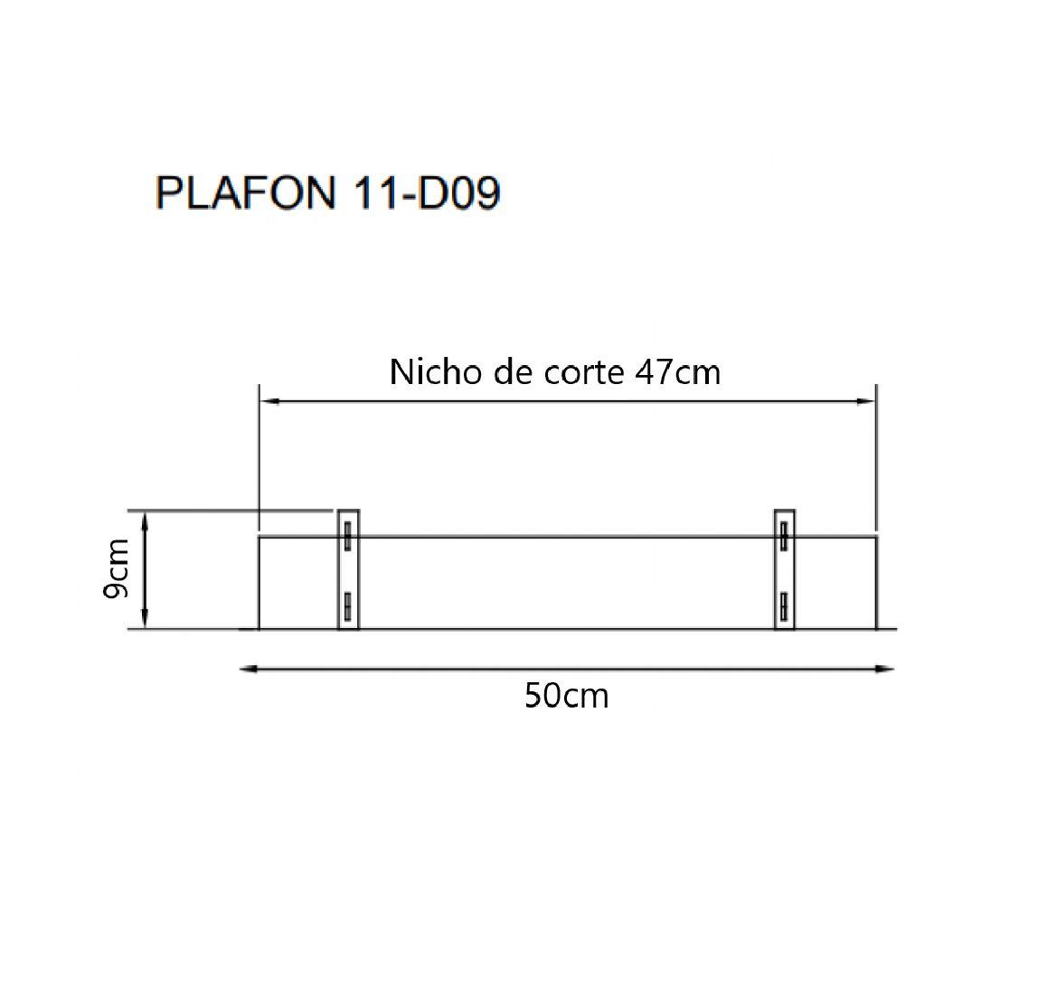 Plafon Rebatedor Embutir Quadrado 50cm Branco Luz Indireta Quarto Sala de Estar Living