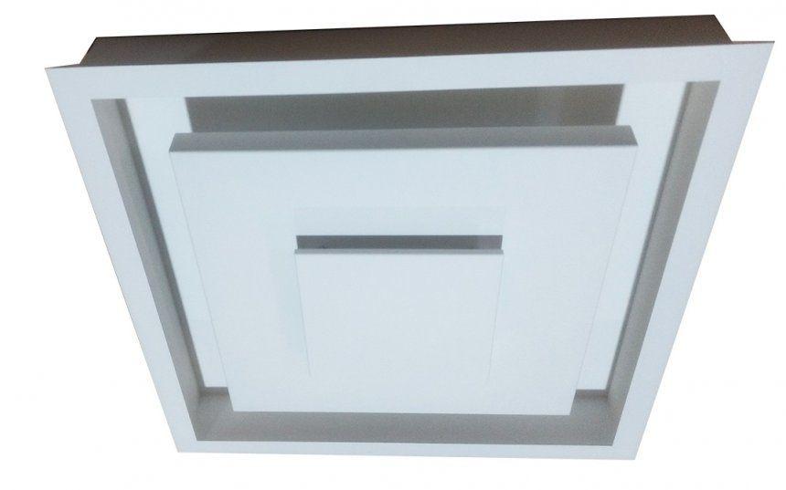 Plafon Rebatedor de Embutir Quadrado 50cm Luz Indireta Branco Para Quarto Sala de Estar Living