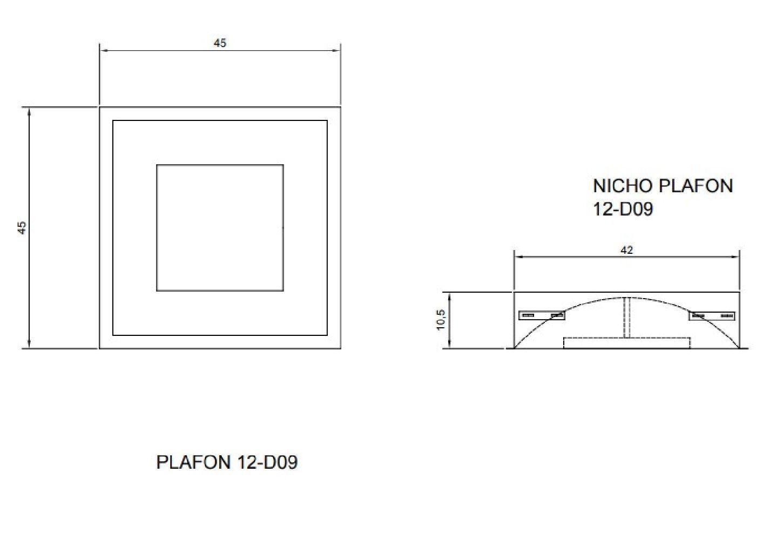 Plafon Rebatedor Embutir Quadrado Preto/ Interno Dourado 45 cm Quarto Sala de Estar Living