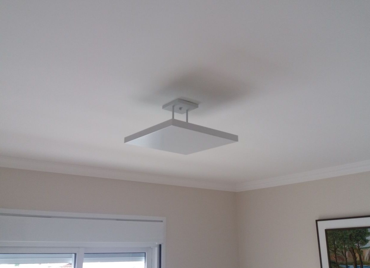 Plafon Rebatedor Quadrado 50 cm Branco Quarto Sala de Estar Living