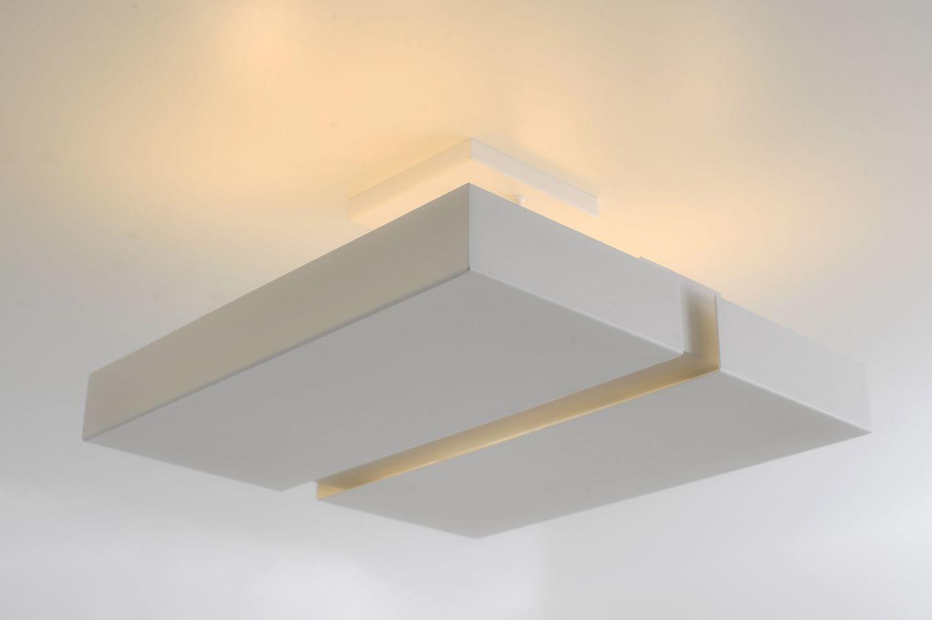 Plafon Rebatedor Vazado Quadrado 50 cm Branco Quarto Sala de Estar Living