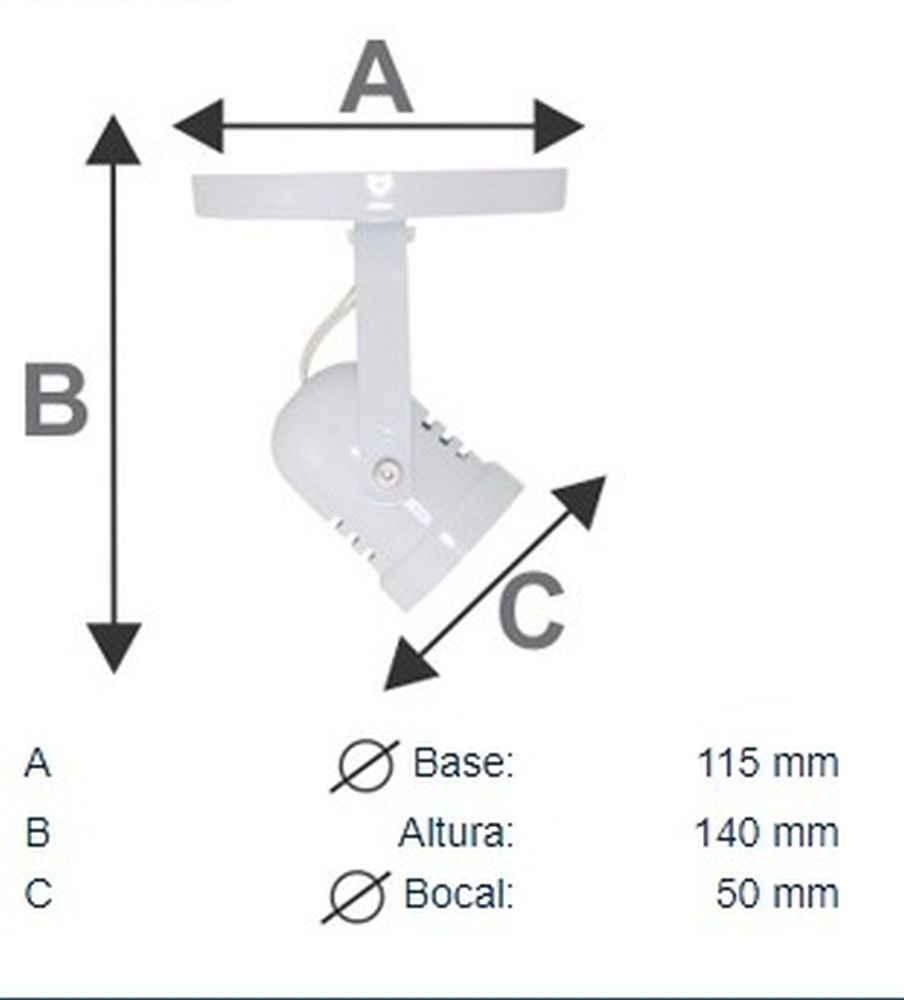 Spot Direcionável Para Quadro Closet Corredor Sala Lavabo Com Lâmpada Led