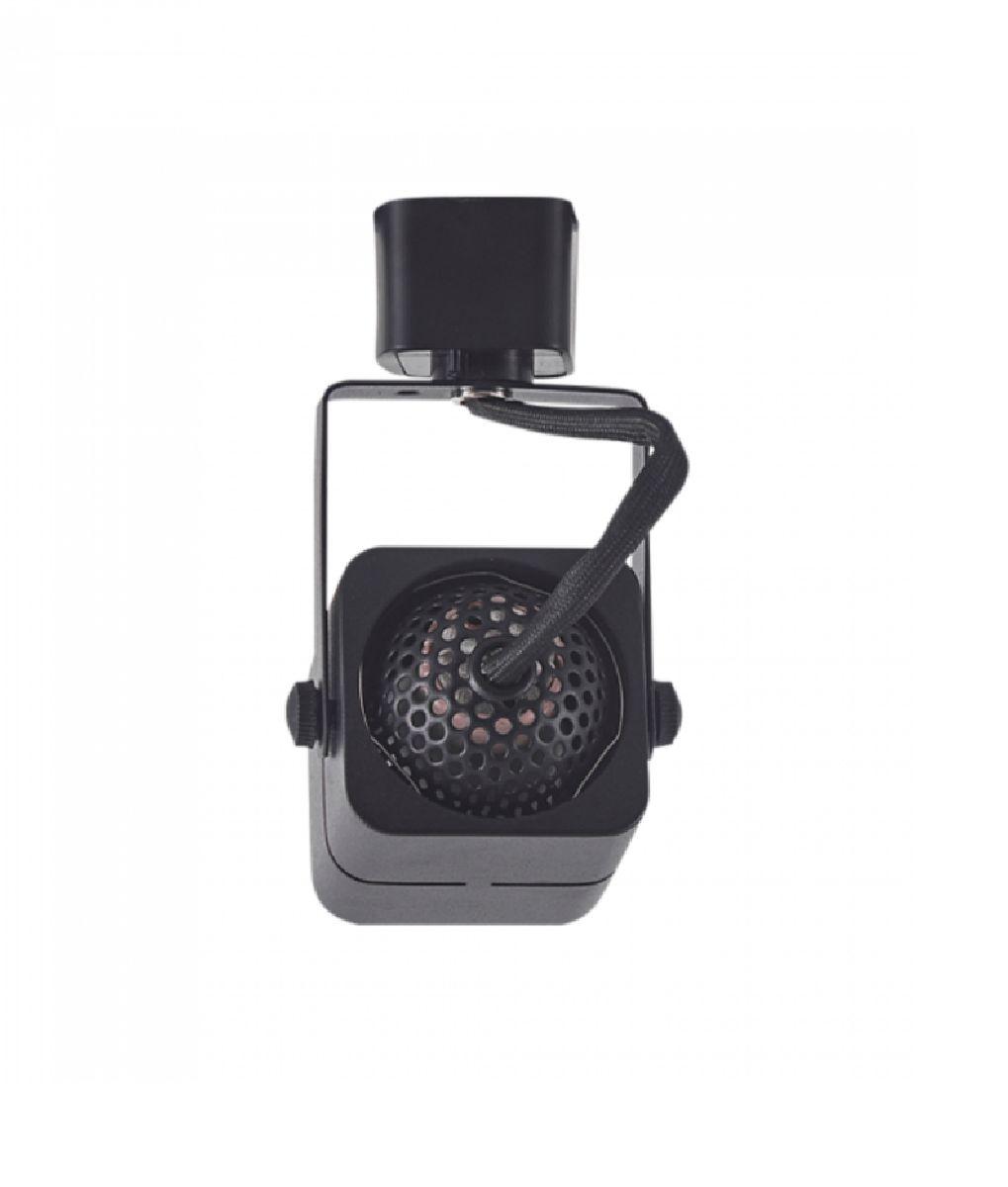 Spot Para Trilho Eletrificado Quadrado Dicroica MR16 / GU10 Nordecor Preto P/ Sala Quarto Cozinha Quadro Bivolt