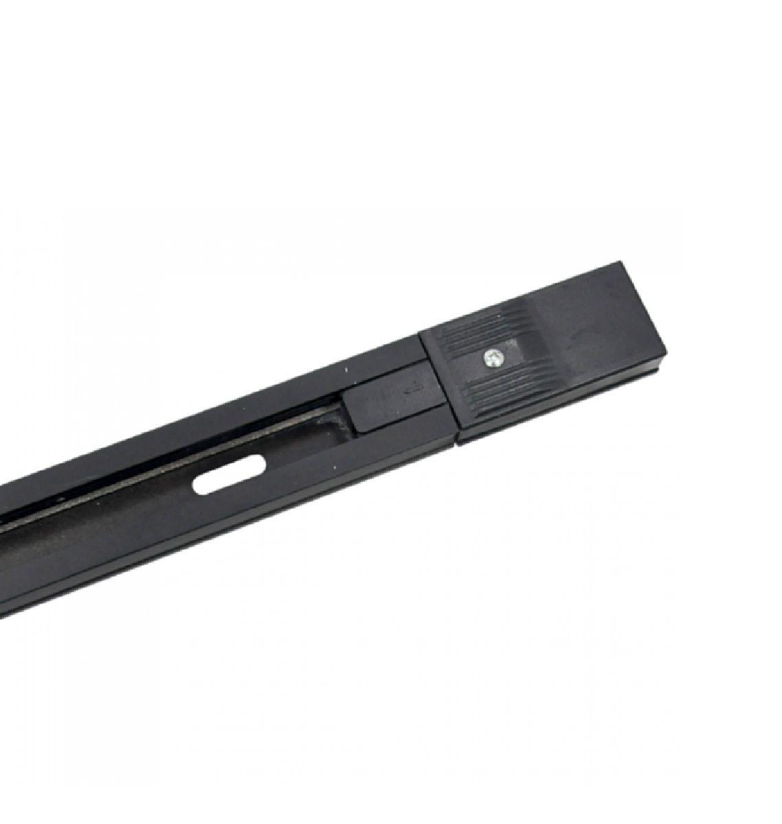 Trilho Eletrificado 1,5m Preto Para Spots Eletrificado Nordecor 6255