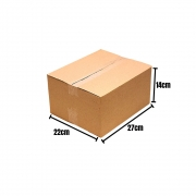 25 Caixas Papelão Correios Sedex Pac Flex Envios 27x22x14