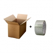 Caixa Papelão 16x11x12 Ecomerce envios 30 Unid + Fita