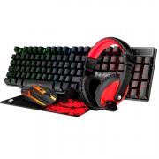 Combo Gamer Completo Teclado + Fone + Mouse + MousePad Evolut