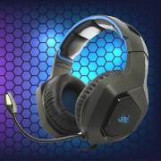 Headset Gamer Headphone Super Bass USB C Led PC Xbox Celular