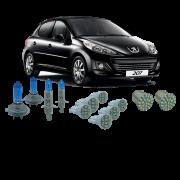 Kit Lampada Super Branca Farol e Leds Peugeot 207