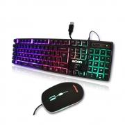 Kit Teclado E Mouse Gamer Semimecânico Leds Coloridos Usb