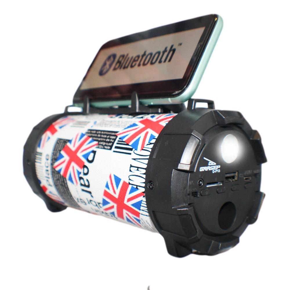 Caixa Caixinha Som Bluetooth Microfone Usb P2 Mp3 Fm Grasep