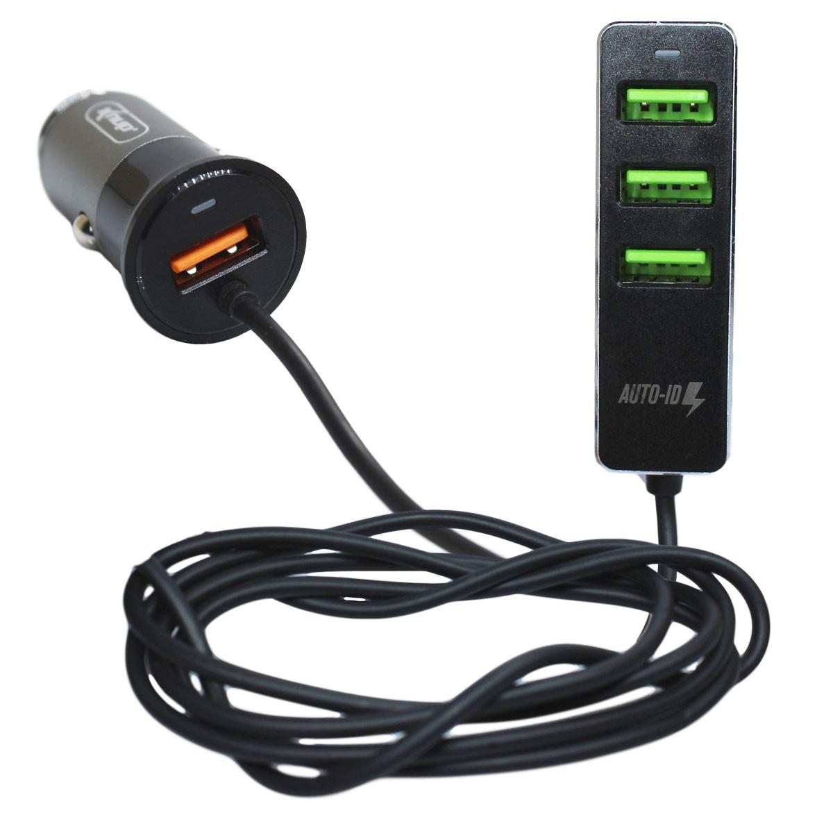 Carregador Celular Automotivo 4 Portas Usb