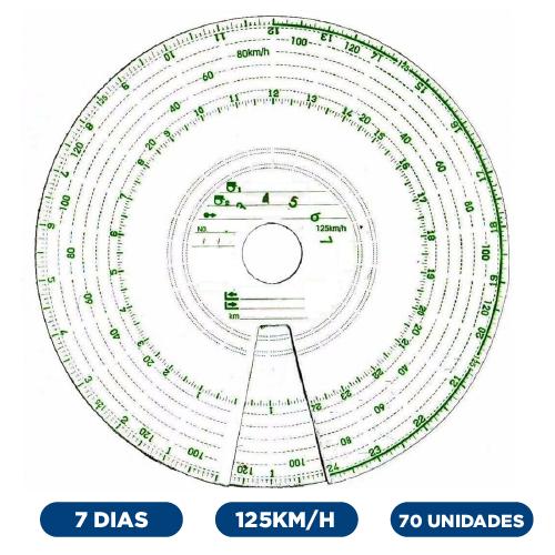 Disco Diagrama Tacógrafo Semanal 125Km 7 Dias - Vdo