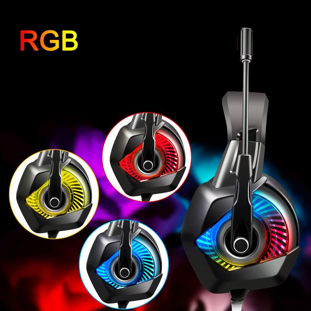 Fone Gamer Super Bass 7.1 Headphone PC Xbox PS4 RGB Led