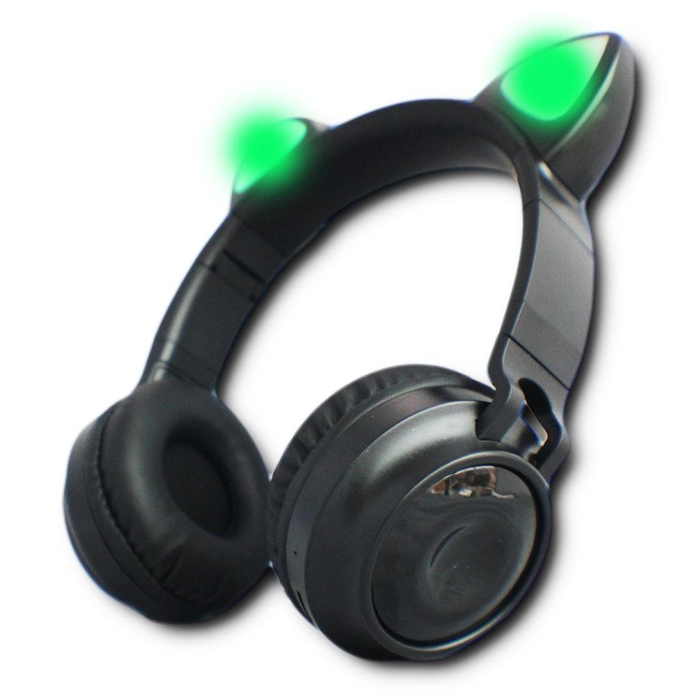 Fone Headphone Ouvido Orelha de Gato Bluetooth Led Coloridos