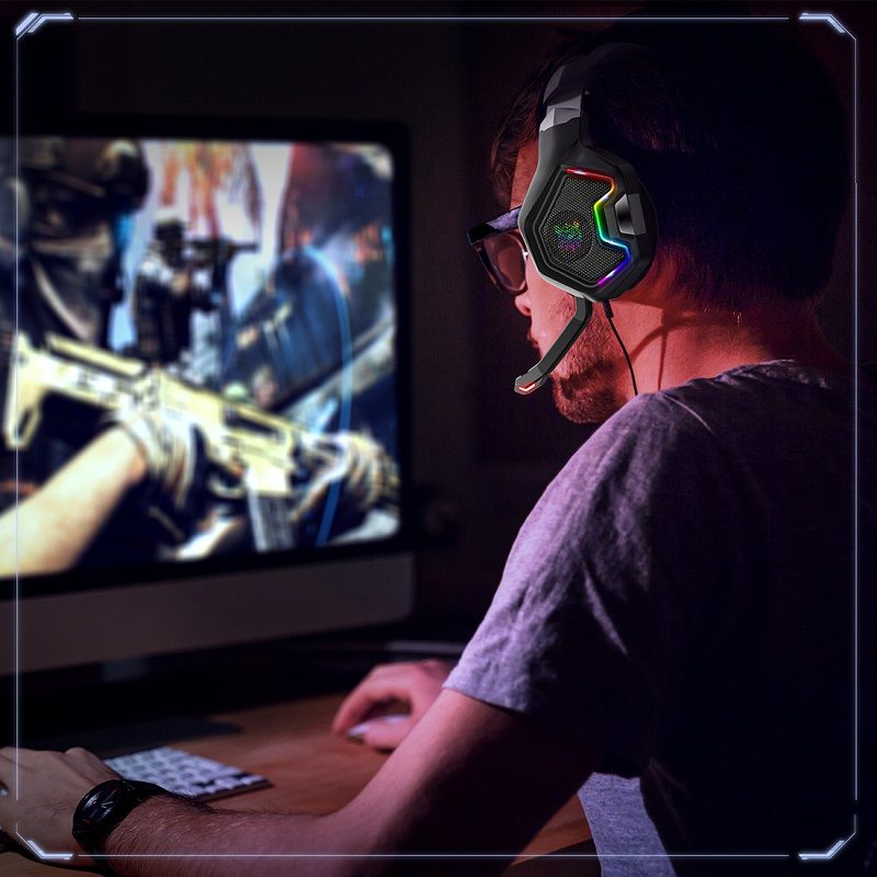 Headphone Gamer 7.1 Headset C Led RGB PC Xbox Celular