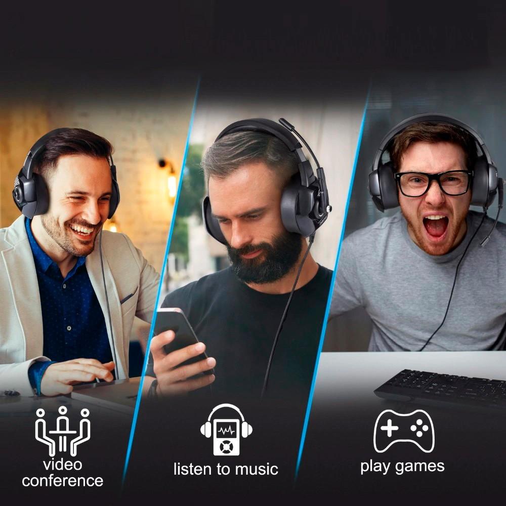 Headphone Gamer 7.1 Super Bass Headset RGB Led PC  PS4
