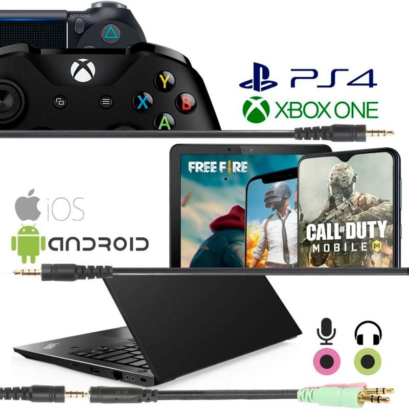 Headphone Gamer Super Bass Audio 7.1 Headset Led RGB PC Xbox Celular