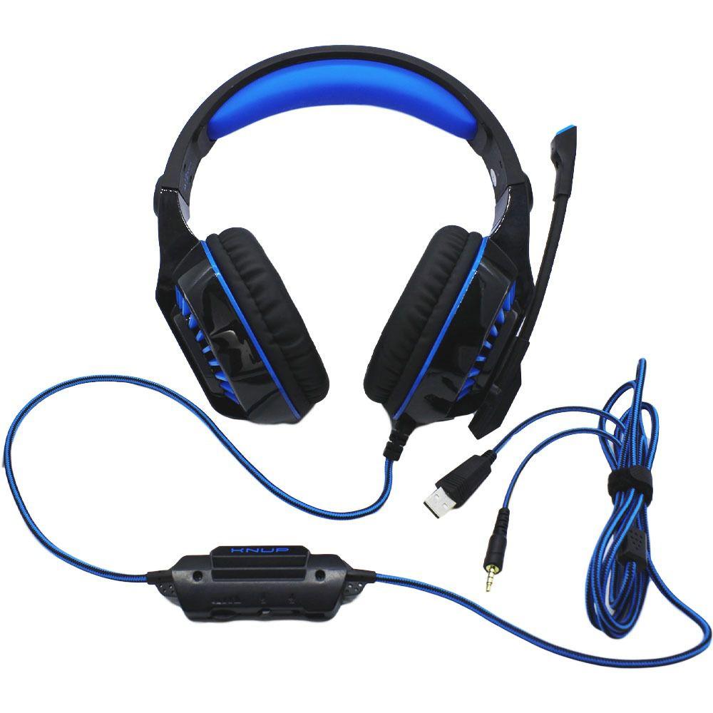 Headphone Gamer Super Bass Headset C Led RGB PC Xbox Celular