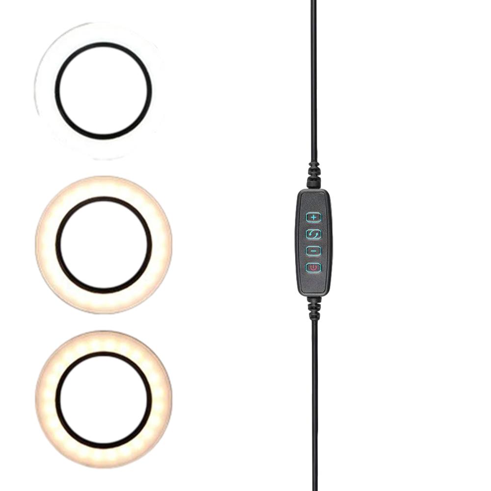 Iluminador Led Ring Light 10 Pol 26cm Suporte Tripé 120 Leds