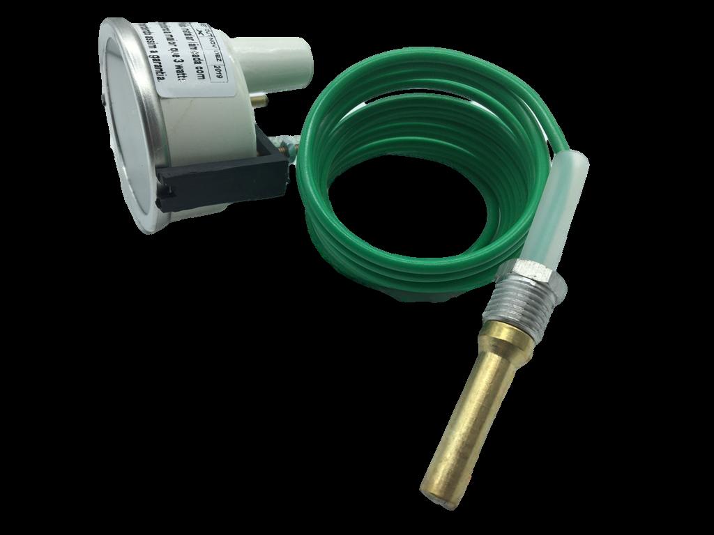 Indicador Temperatura Termômetro  Universal 60mm Cabo 2,60m