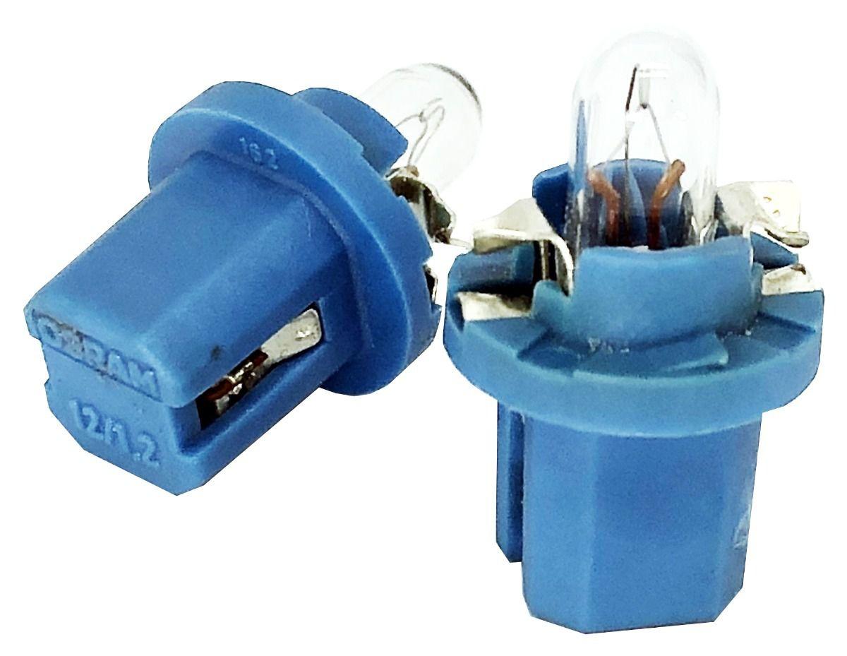 Kit Com 2 Lampadas De Painel Osram 1.2W 12V Azul