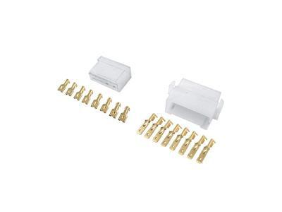 Kit Conector Macho Femea 8 Vias + 16 Terminais