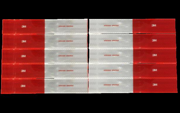 Kit Faixa Refletiva 3M Lado Direito e Esquerdo 10 Unidades