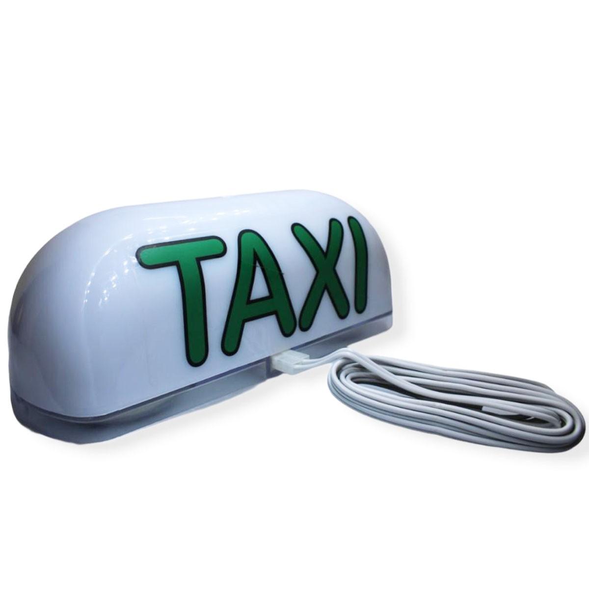 Luminoso Grande Taxi 2 Imãs Led 12v 23 x 8 x 7,5cm FIP