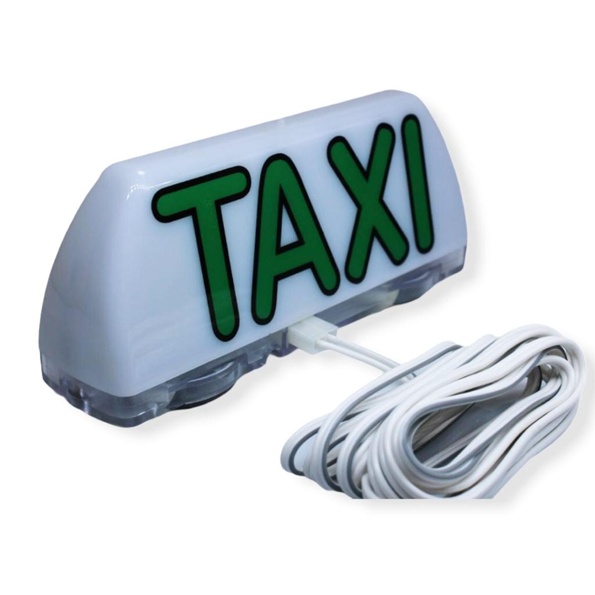 Luminoso Taxi 2 Imãs Pequeno Iluminação Led 12v  FIP