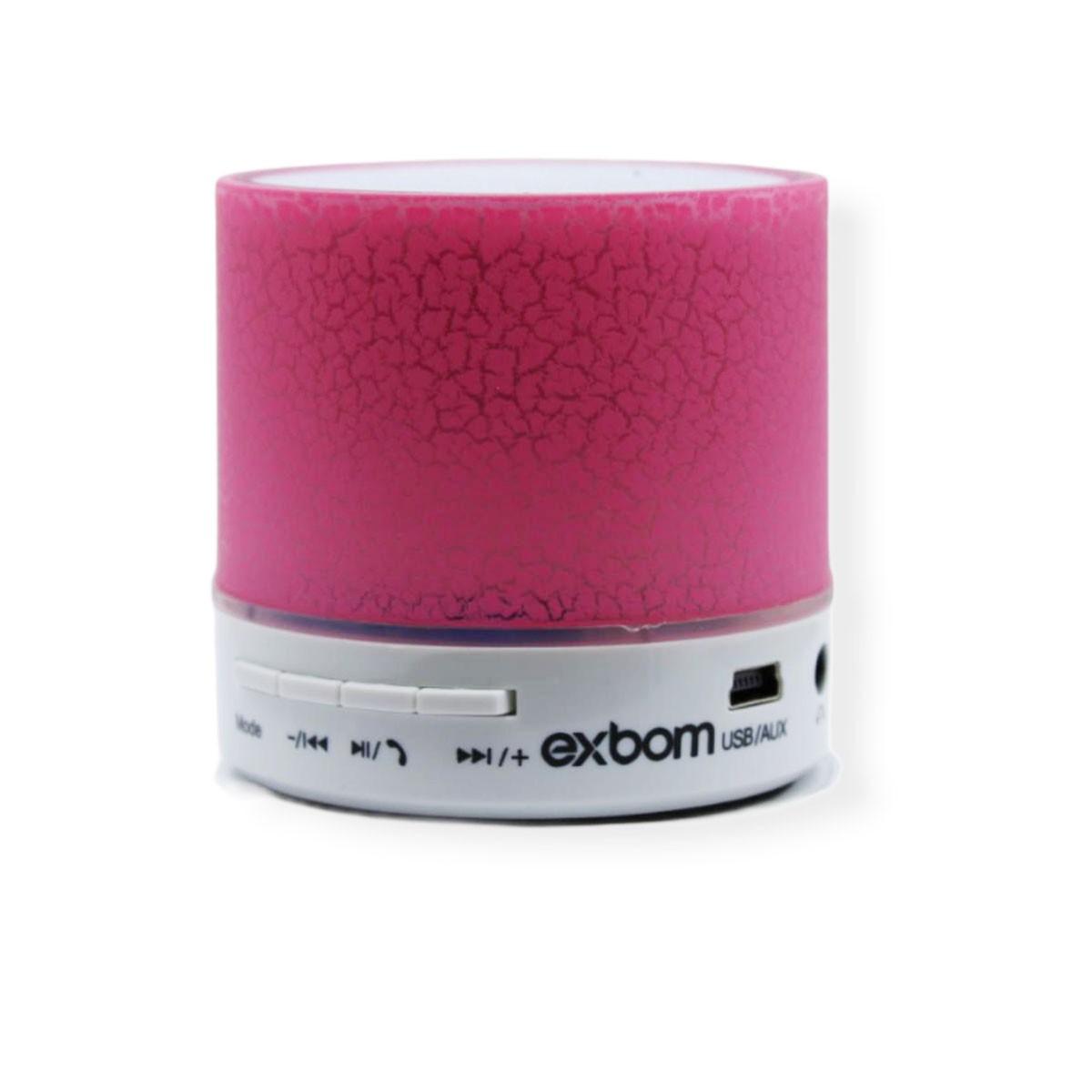 Mini Caixa Som Bluetooth Radio Fm Usb Cartão Sd Mp3 Led Rgb