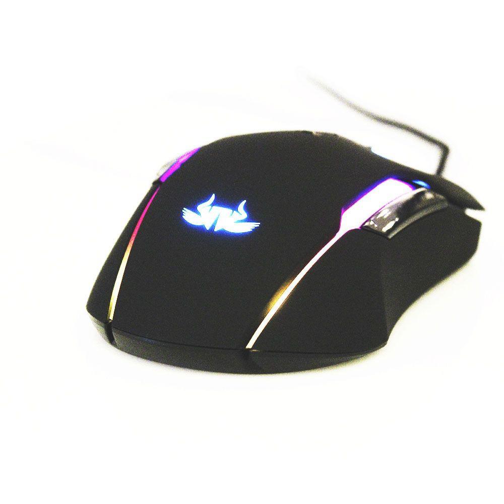 Mouse Gamer Premium Led Rgb 7200 Pixart Processador Beiyng