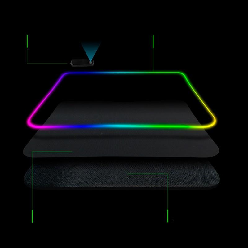 Mouse Pad Gamer Super LED 7 Cores Pc 25x35 Pro Alto Desempenho FPS