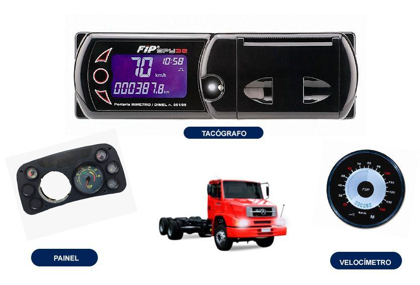 Painel Mercedes + Tacógrafo +  Velocimetro FIP  (Kit Novo)