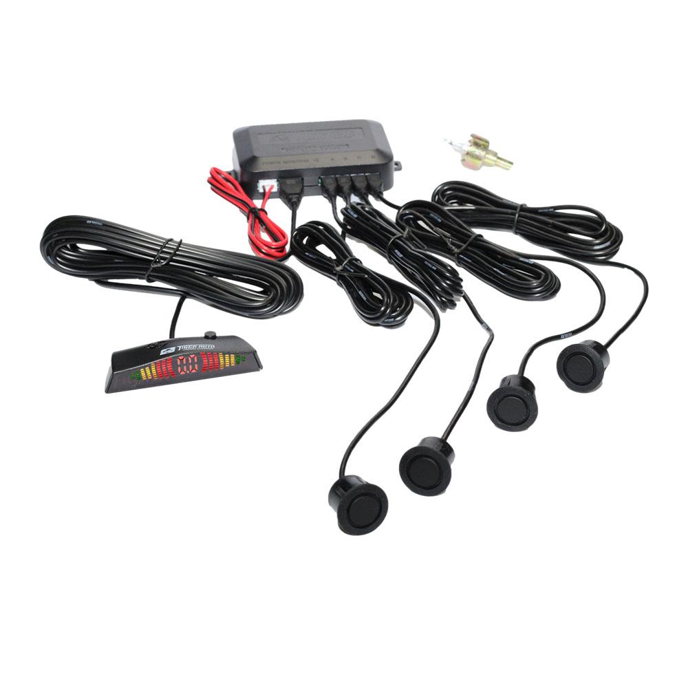 Sensor de Estacionamento Ré Universal 4 Pontos Pretos