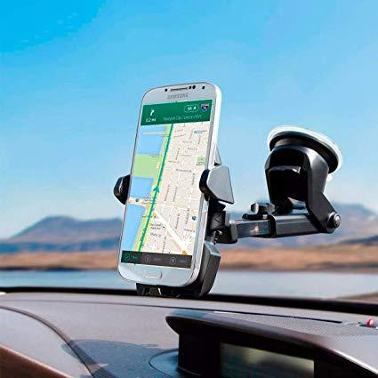 Suporte Com Carregador Veicular Celular Gps Automotivo