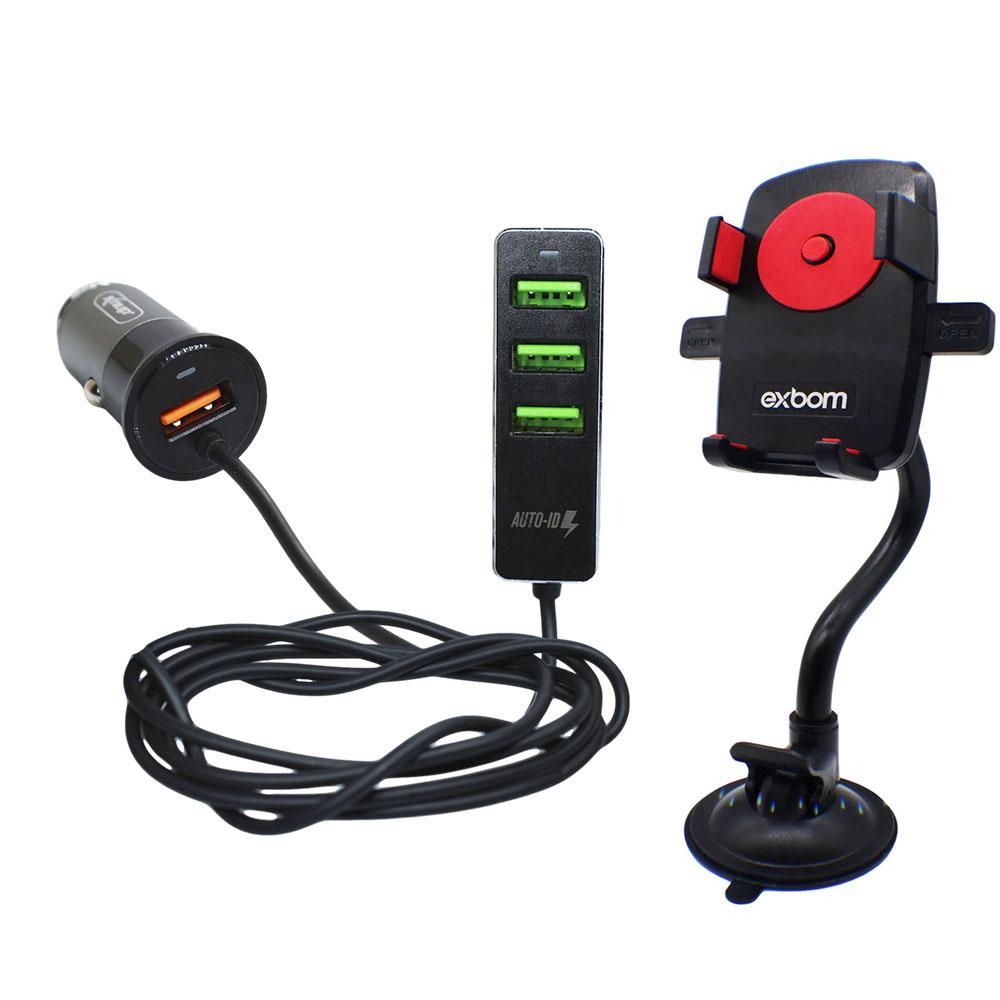 Suporte e Carregador Celular Smartphone GPS Aplicativos