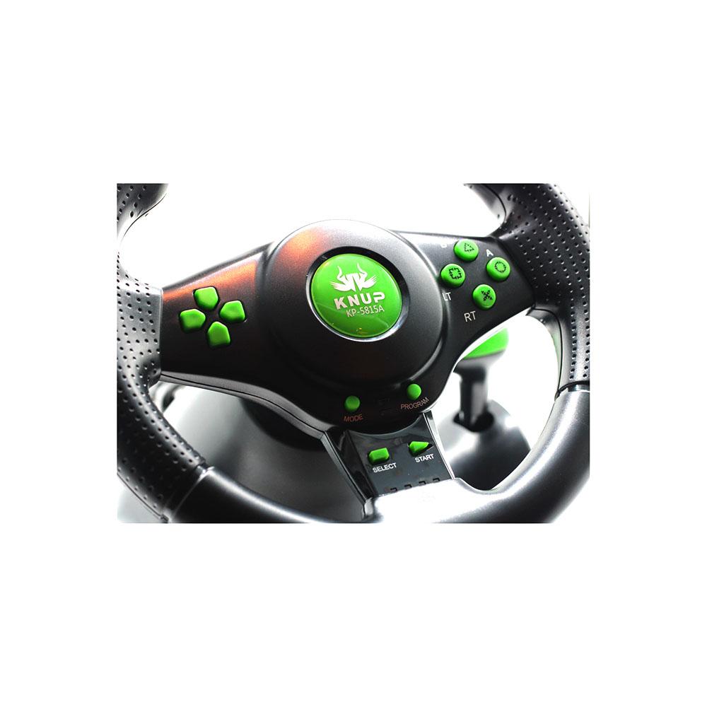 Volante Gamer Racer Com Pedal Cambio Vibração Giro 180 Graus