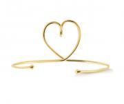 Bracelete de Coração Vazado Trançado 4687