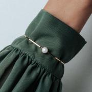 Bracelete Pérola Shell Zircônias Coloridas 5168