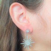 Brinco Estrela com Microzircônias 3840