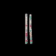 Brinco Fio Longo Zircônias Coloridas 4910